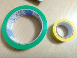 養生テープとビニールテープ