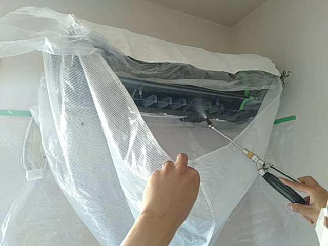 エアコン本体の洗浄