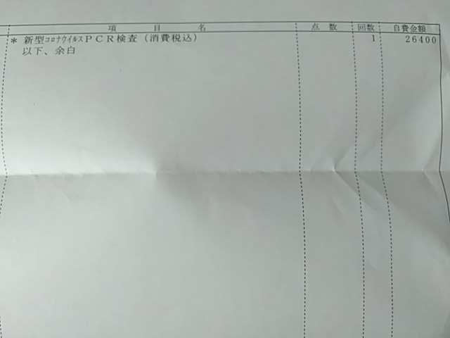 PCR検査料金